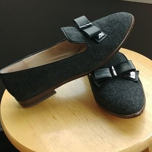 Louise et Cie wool/leather flats (smoker loafers)